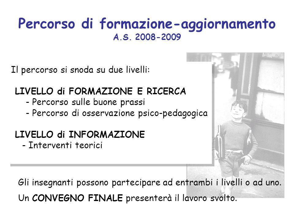 Percorso di formazione-aggiornamento A.S. 2008-2009