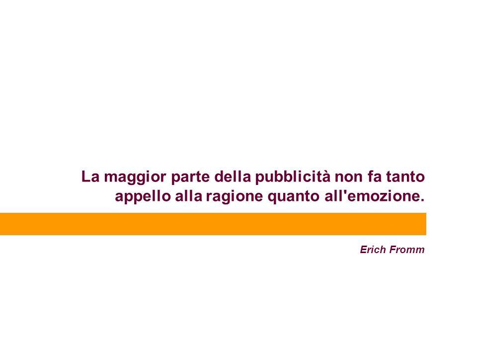 La maggior parte della pubblicità non fa tanto appello alla ragione quanto all emozione. Erich Fromm