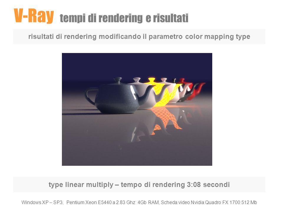 V-Ray tempi di rendering e risultati