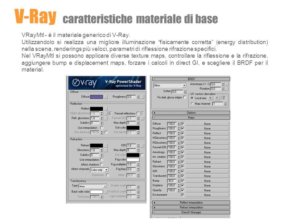 V-Ray caratteristiche materiale di base