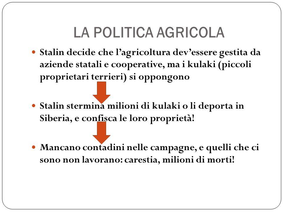 LA POLITICA AGRICOLA