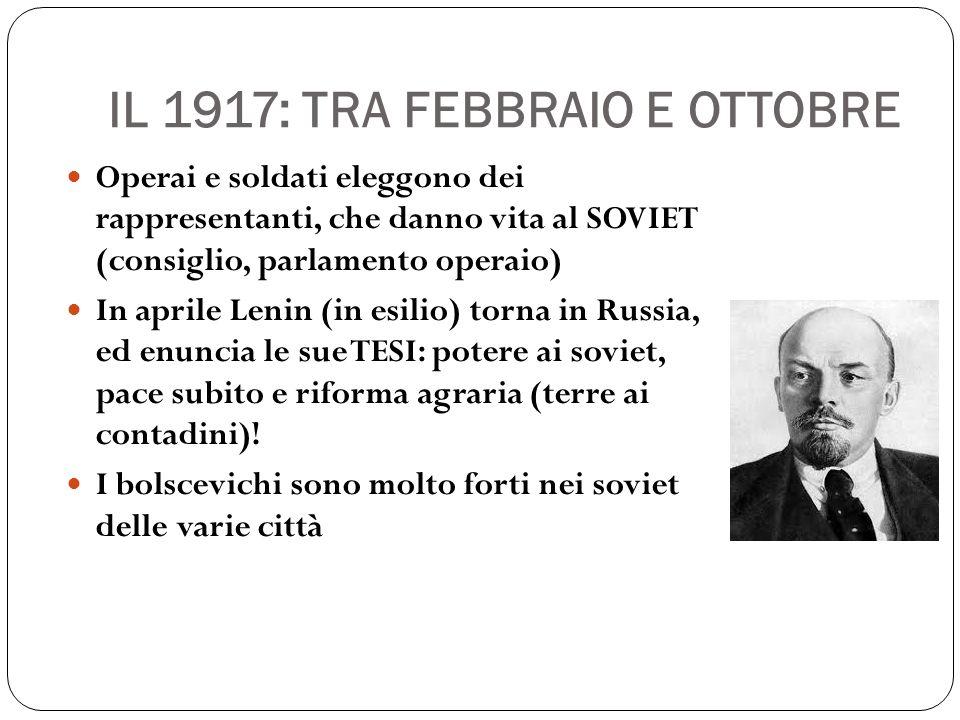 IL 1917: TRA FEBBRAIO E OTTOBRE