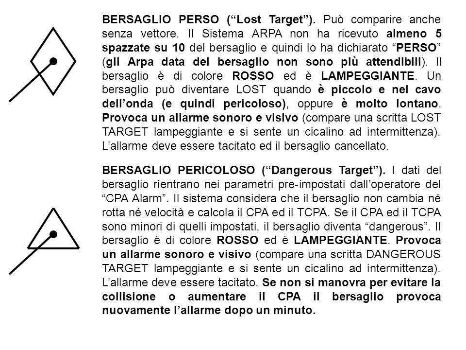 BERSAGLIO PERSO ( Lost Target ). Può comparire anche senza vettore