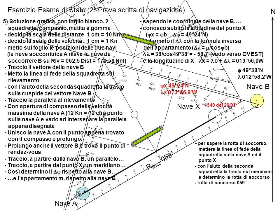 Esercizio Esame di Stato (2ª Prova scritta di navigazione) N