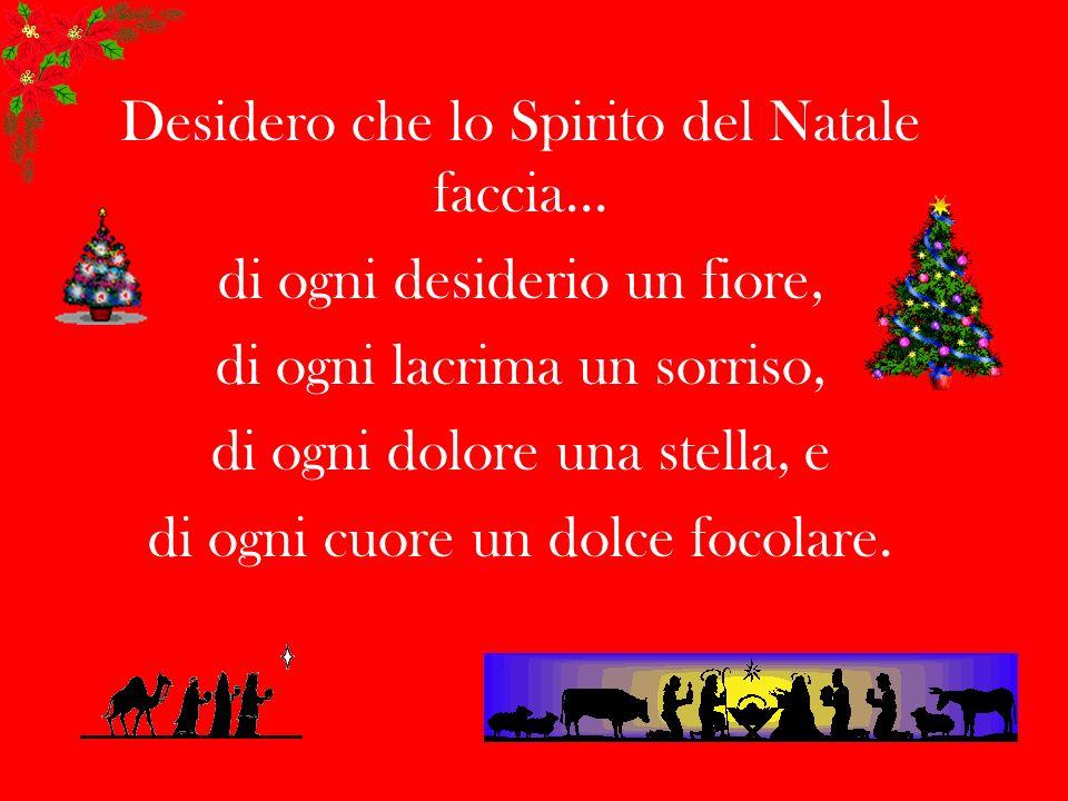 Desidero che lo Spirito del Natale faccia...