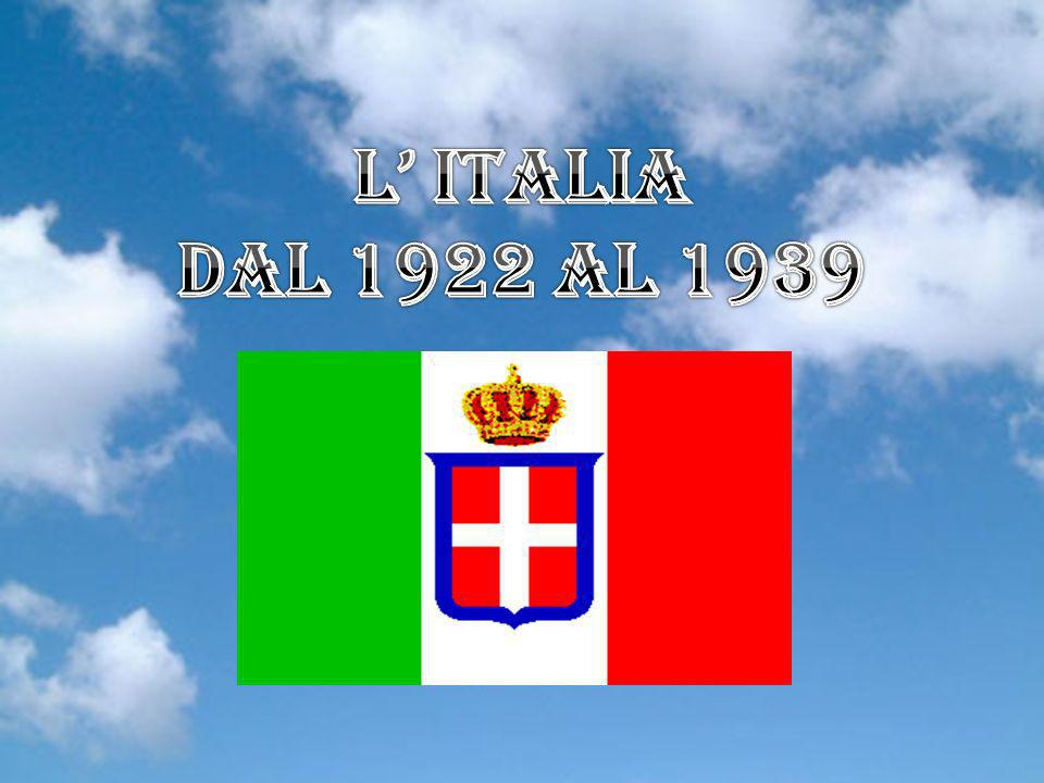L' Italia Dal 1922 al 1939