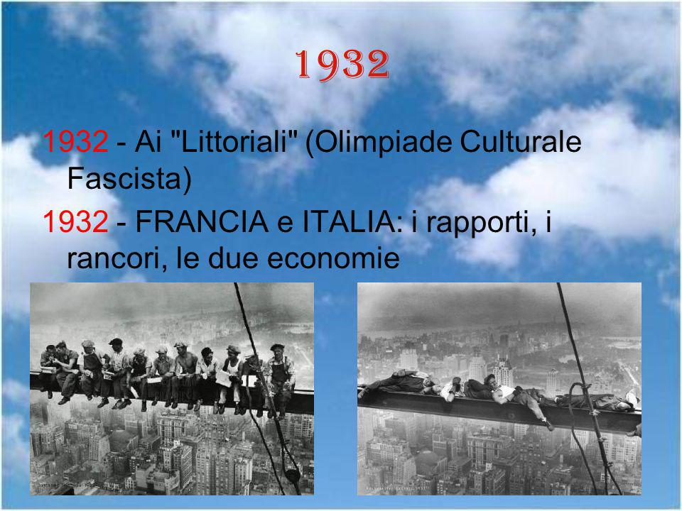 1932 1932 - Ai Littoriali (Olimpiade Culturale Fascista)
