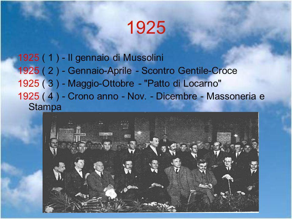 1925 1925 ( 1 ) - Il gennaio di Mussolini