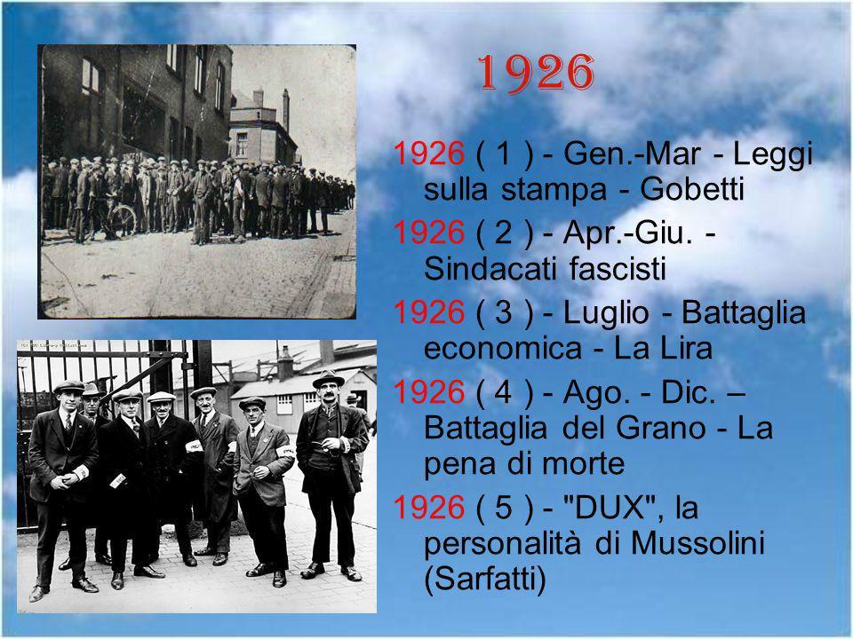 1926 1926 ( 1 ) - Gen.-Mar - Leggi sulla stampa - Gobetti