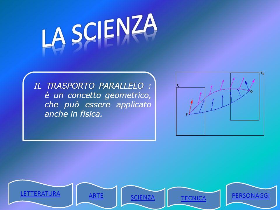 LA SCIENZA IL TRASPORTO PARALLELO : è un concetto geometrico, che può essere applicato anche in fisica.