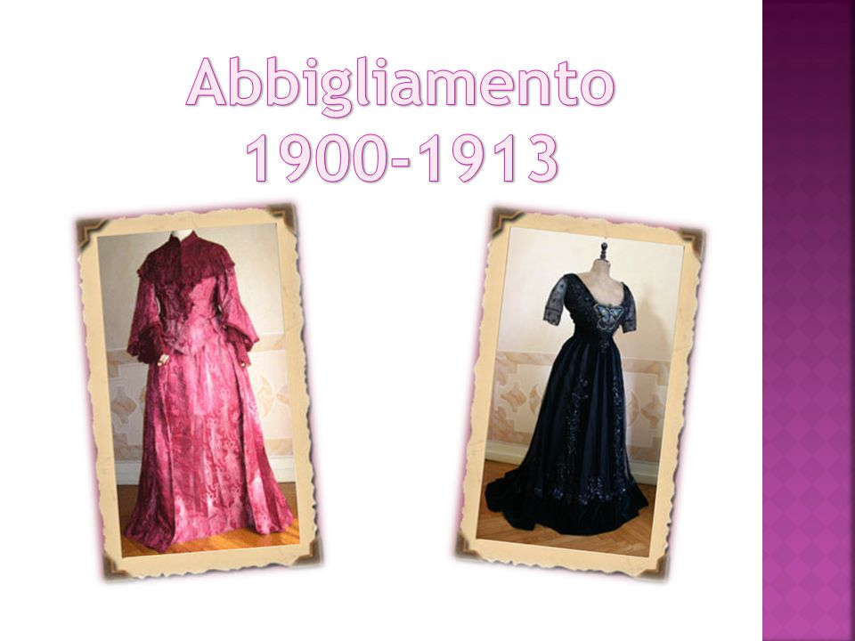 Abbigliamento 1900-1913