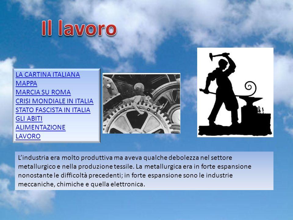 Il lavoro LA CARTINA ITALIANA MAPPA MARCIA SU ROMA