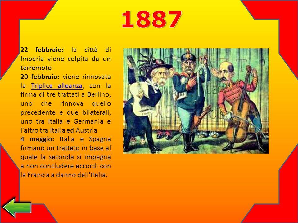 1887 22 febbraio: la città di Imperia viene colpita da un terremoto