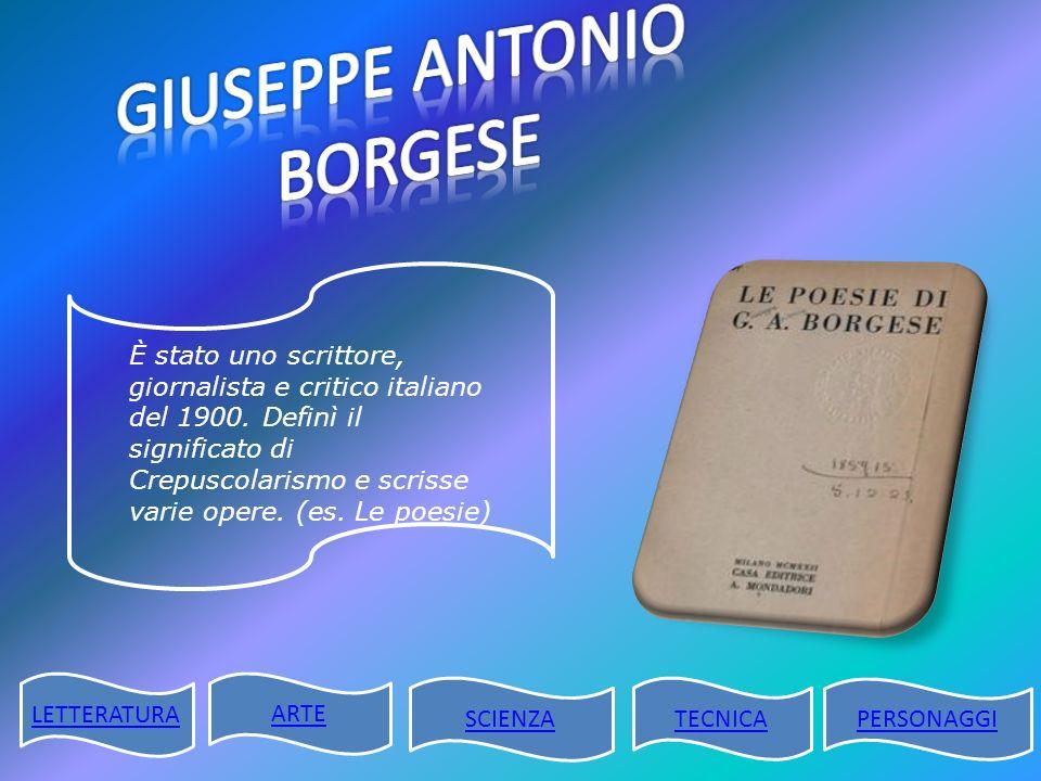 GIUSEPPE ANTONIO BORGESE