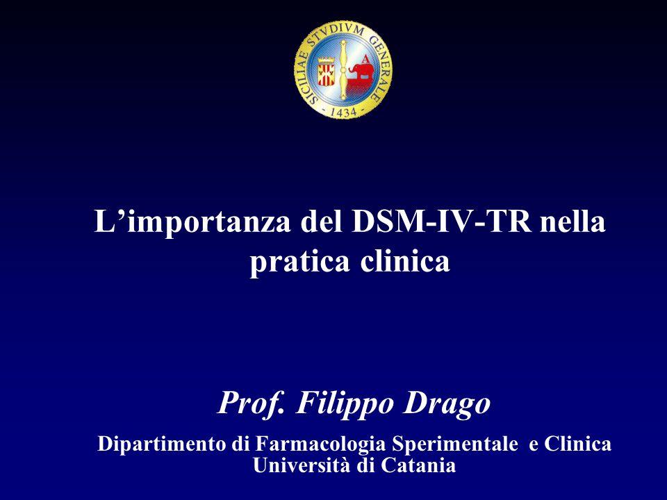 L'importanza del DSM-IV-TR nella pratica clinica