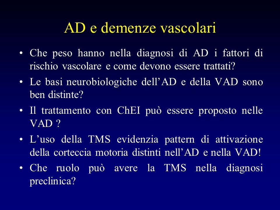 AD e demenze vascolari Che peso hanno nella diagnosi di AD i fattori di rischio vascolare e come devono essere trattati