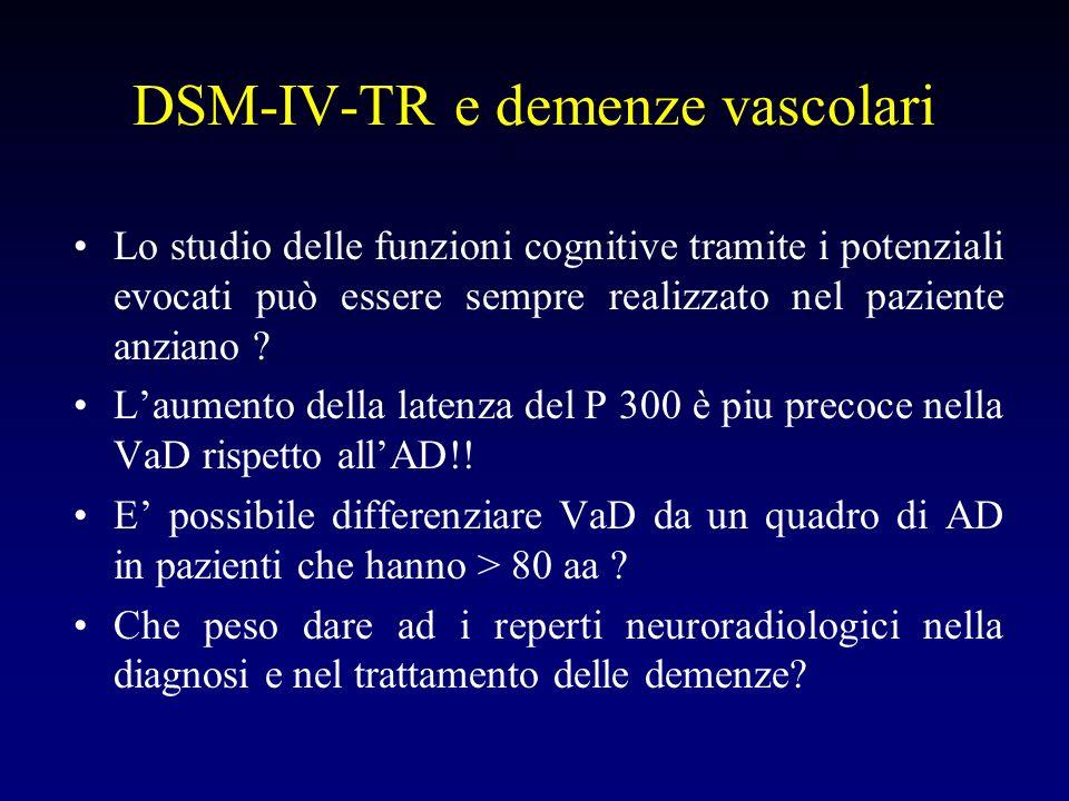 DSM-IV-TR e demenze vascolari
