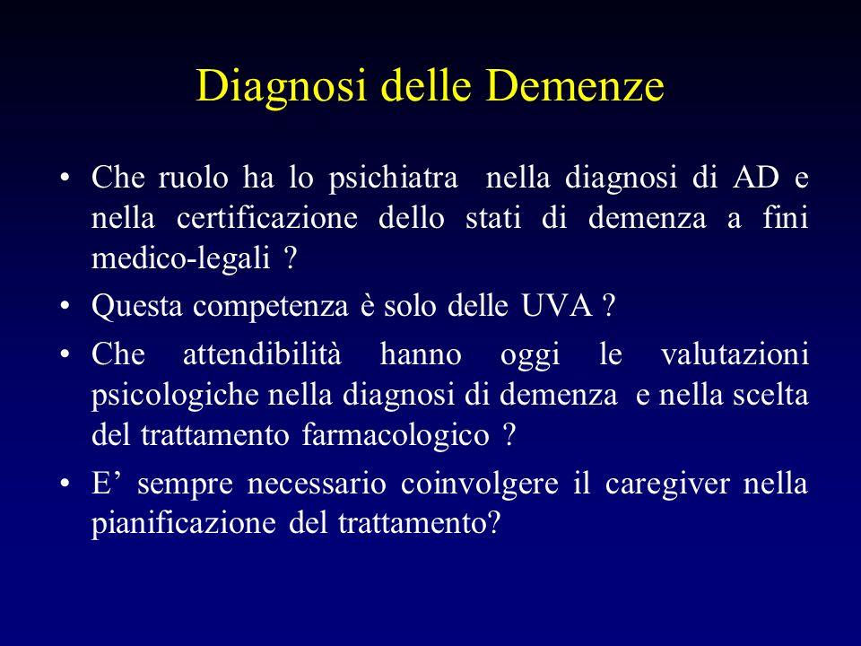 Diagnosi delle Demenze