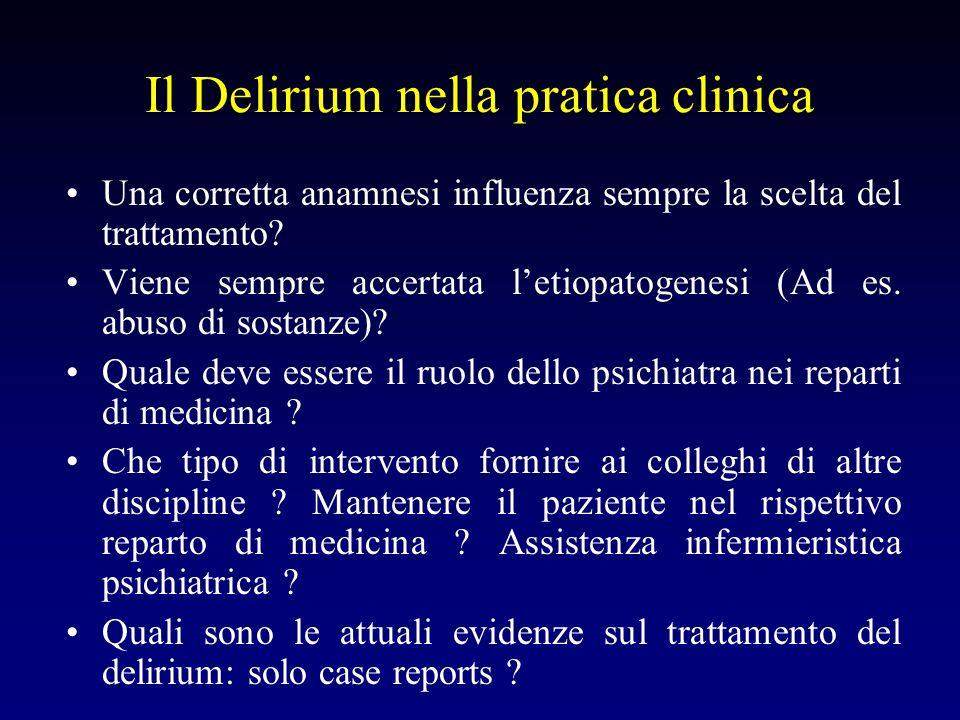 Il Delirium nella pratica clinica