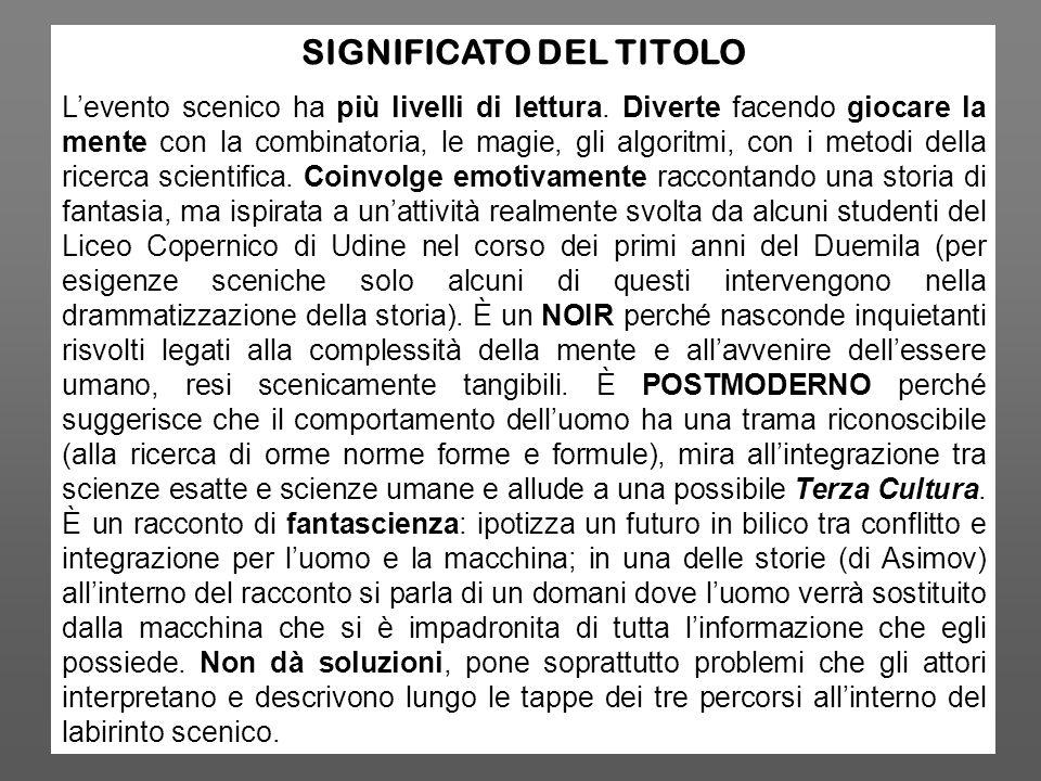 SIGNIFICATO DEL TITOLO