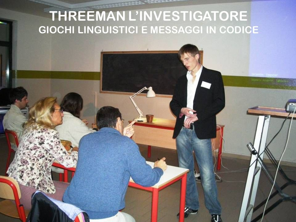 THREEMAN L'INVESTIGATORE