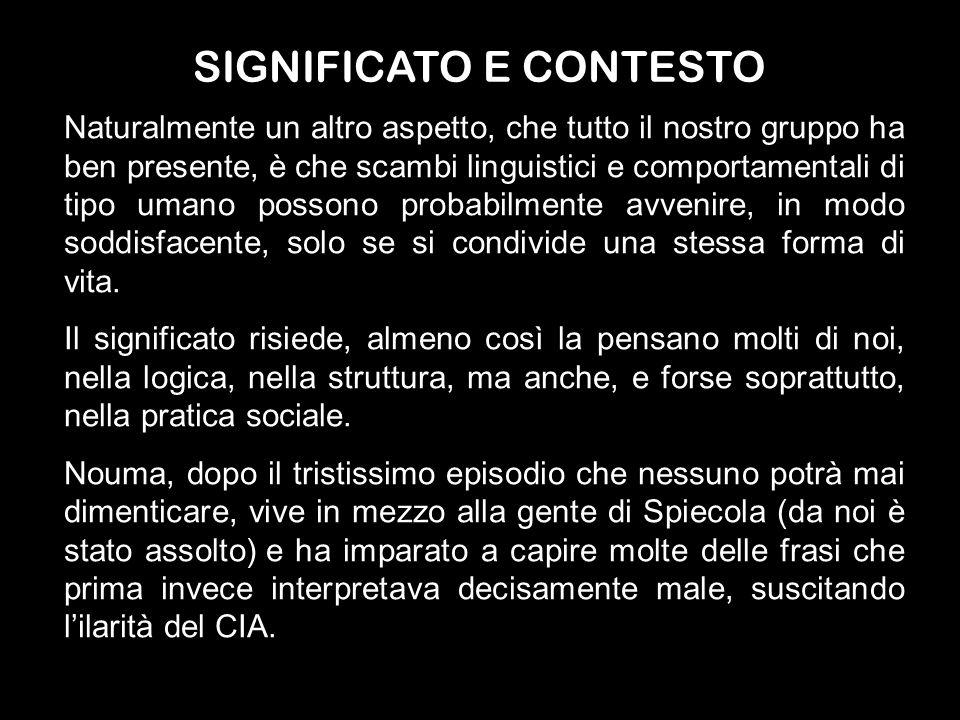 SIGNIFICATO E CONTESTO