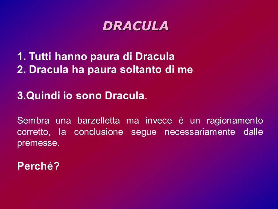 DRACULA Tutti hanno paura di Dracula Dracula ha paura soltanto di me