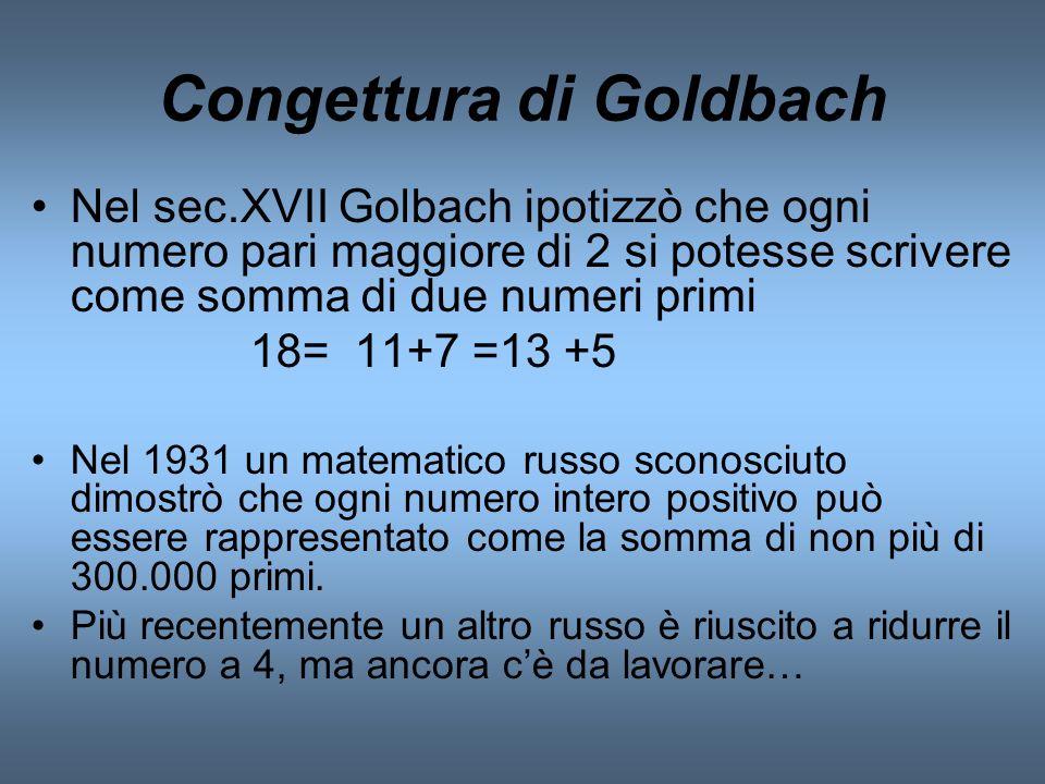 Congettura di Goldbach