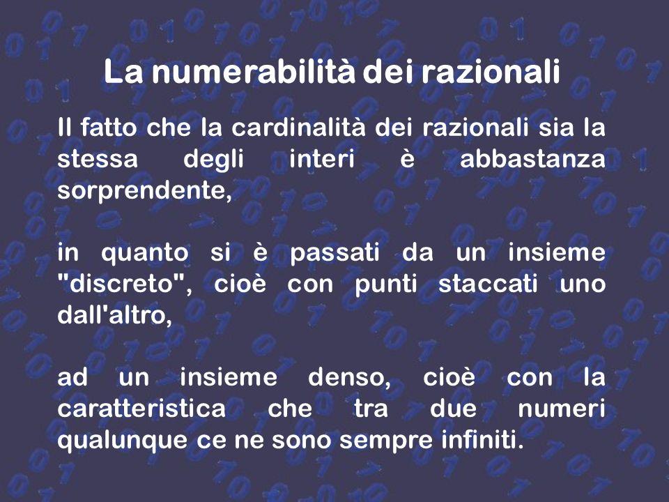 La numerabilità dei razionali
