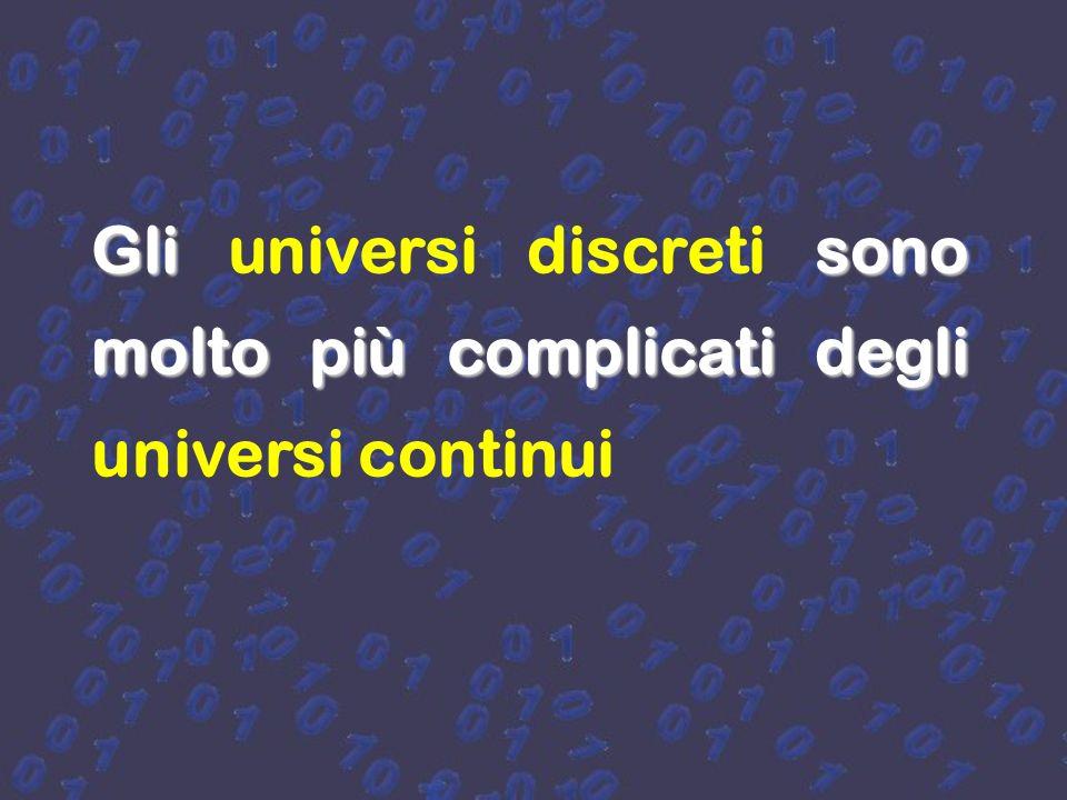 Gli universi discreti sono molto più complicati degli universi continui