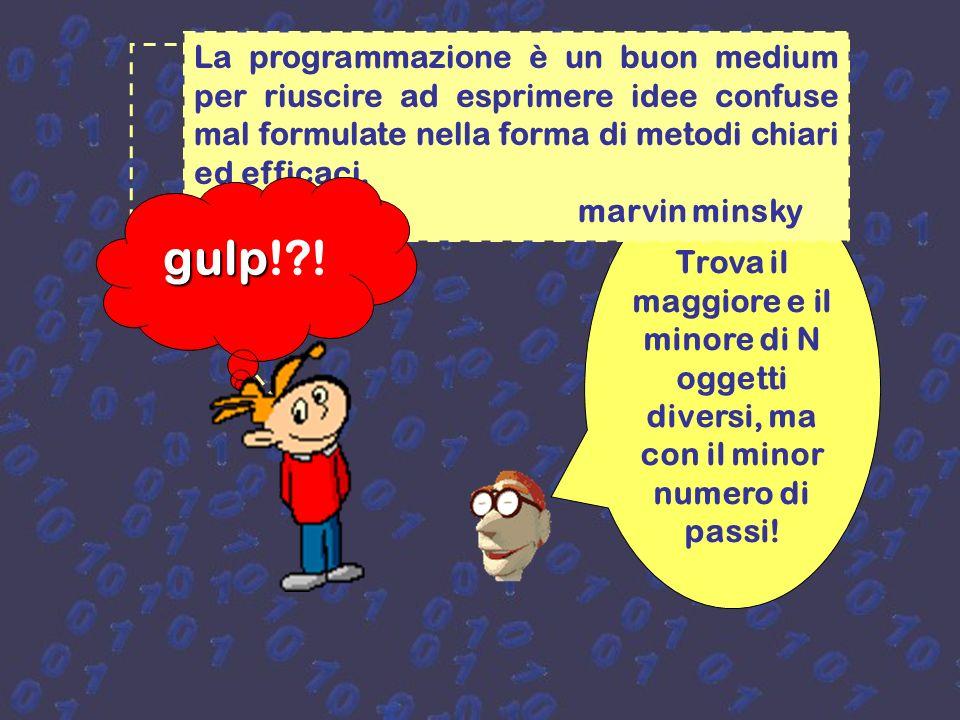 La programmazione è un buon medium per riuscire ad esprimere idee confuse mal formulate nella forma di metodi chiari ed efficaci.