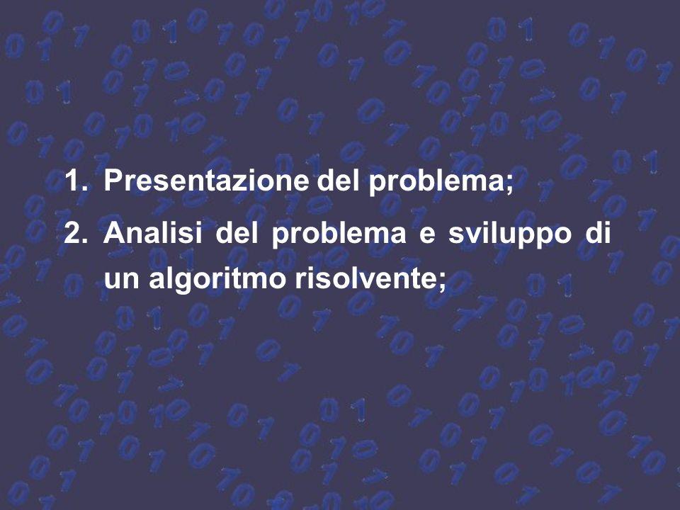 Presentazione del problema;
