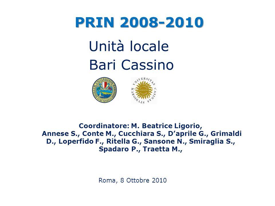 Coordinatore: M. Beatrice Ligorio,