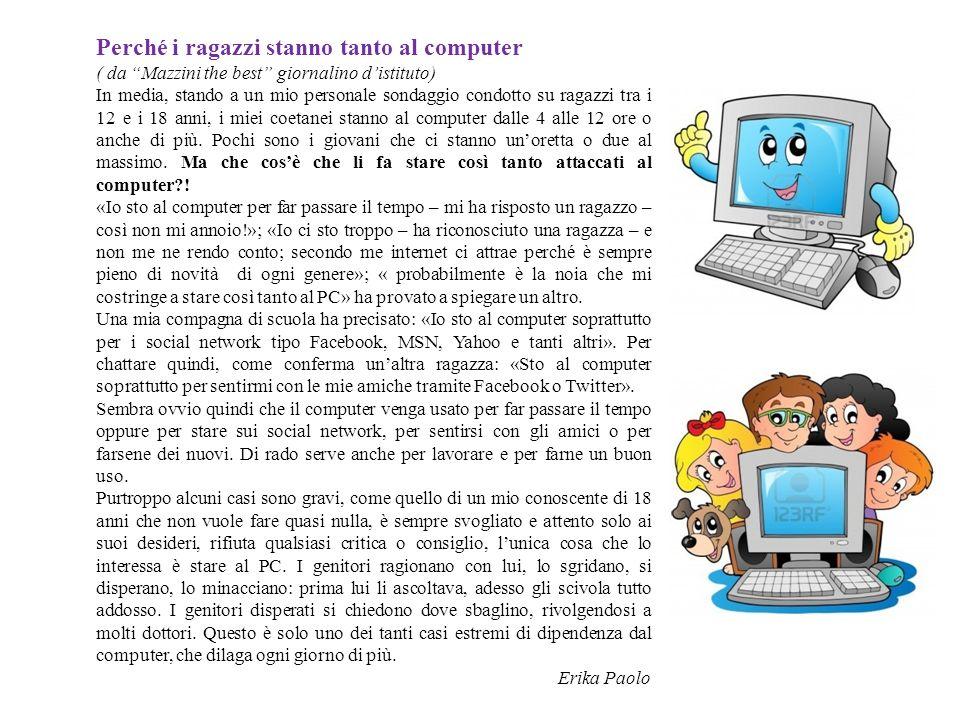 Perché i ragazzi stanno tanto al computer