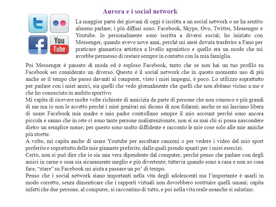 Aurora e i social network