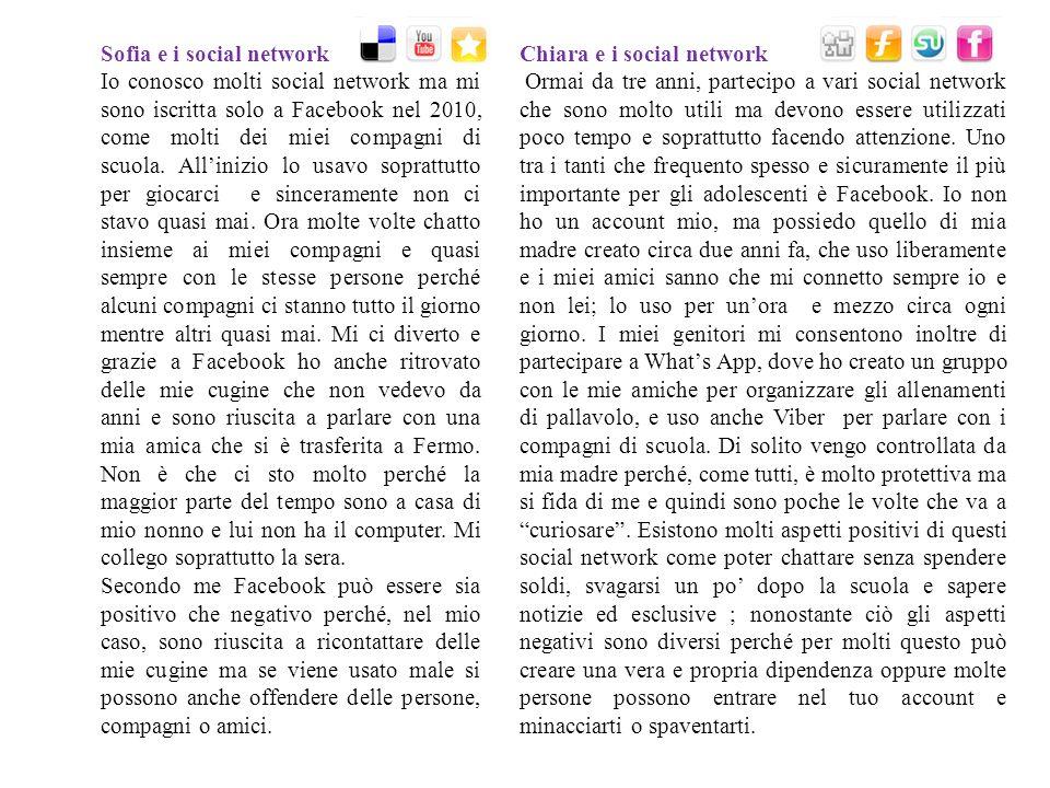 Sofia e i social network