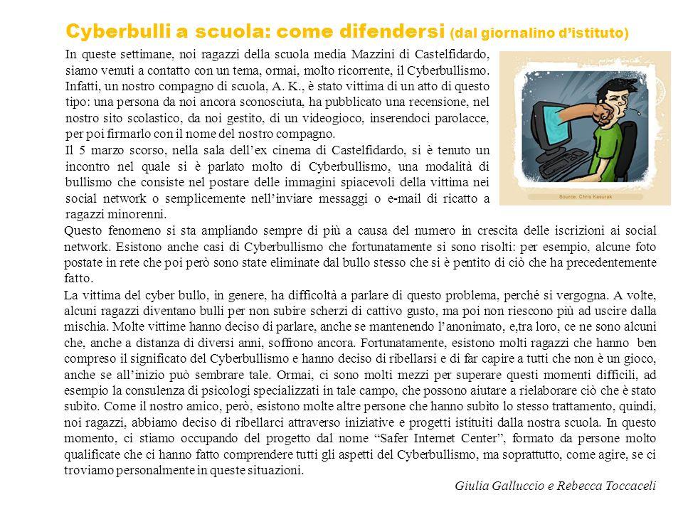 Cyberbulli a scuola: come difendersi (dal giornalino d'istituto)