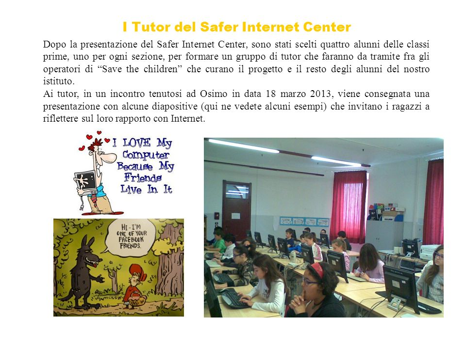 I Tutor del Safer Internet Center
