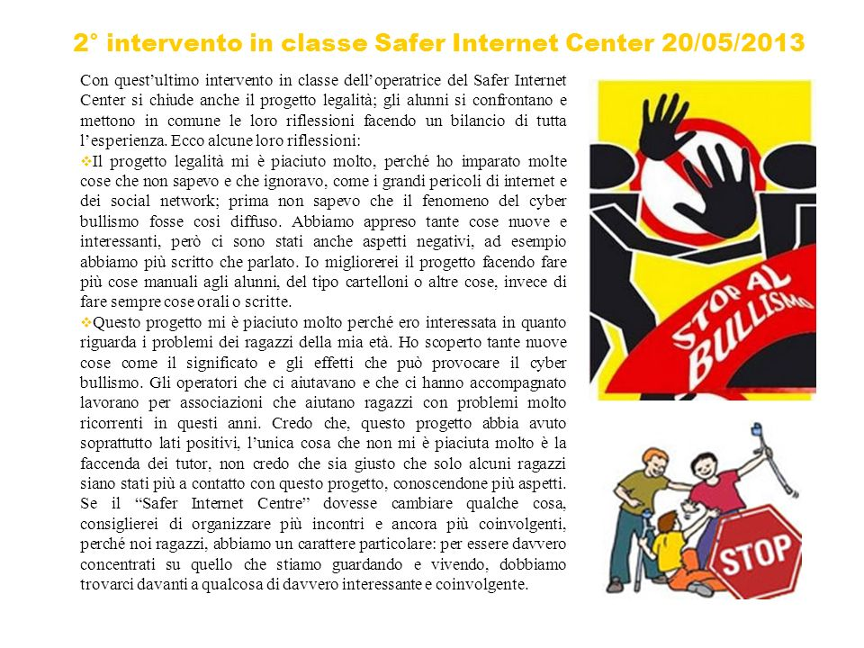 2° intervento in classe Safer Internet Center 20/05/2013