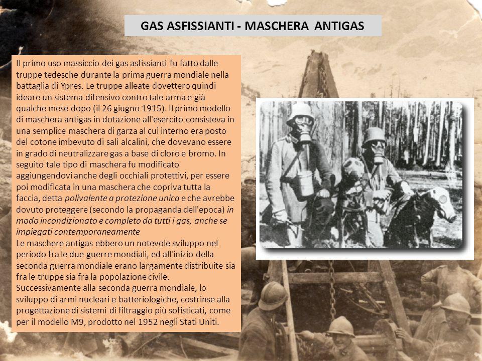 GAS ASFISSIANTI - MASCHERA ANTIGAS