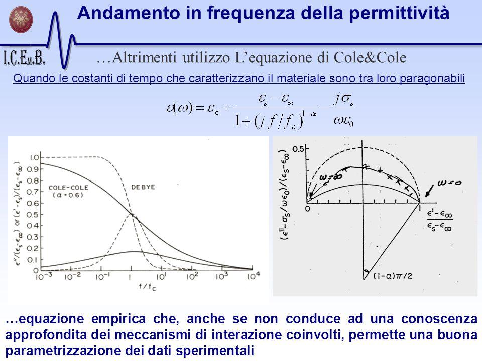 …Altrimenti utilizzo L'equazione di Cole&Cole