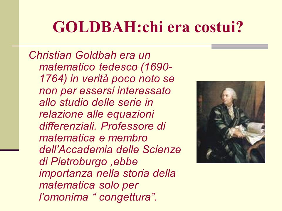 GOLDBAH:chi era costui