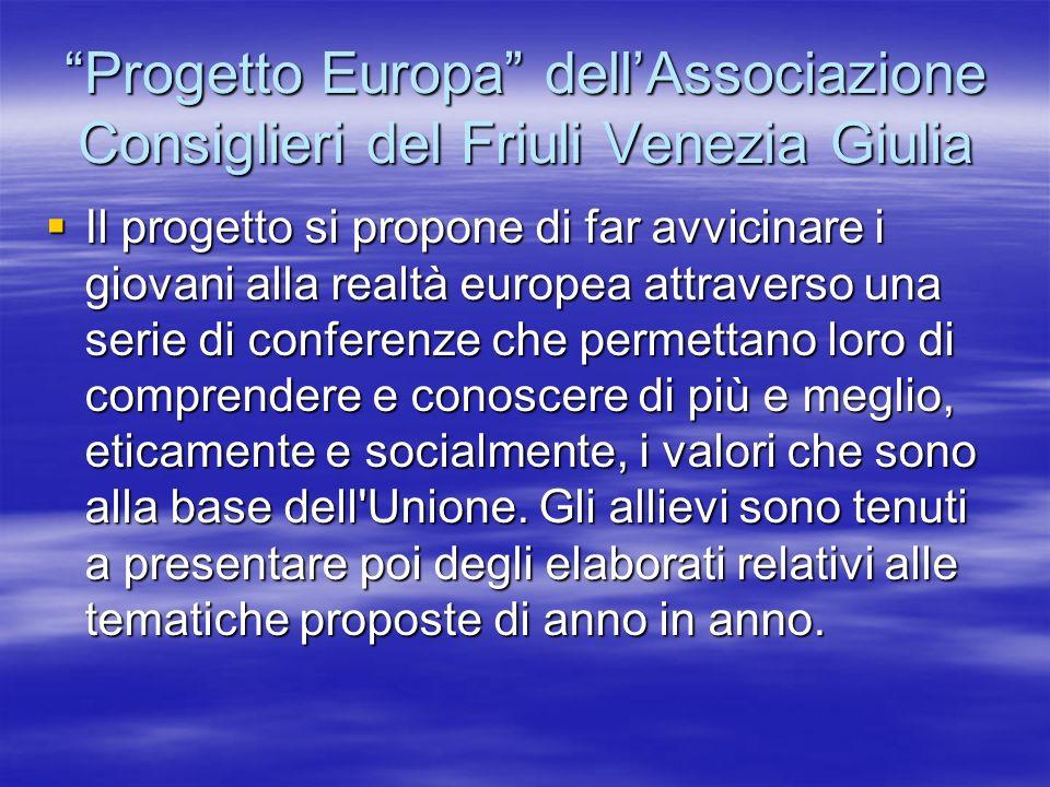 Progetto Europa dell'Associazione Consiglieri del Friuli Venezia Giulia