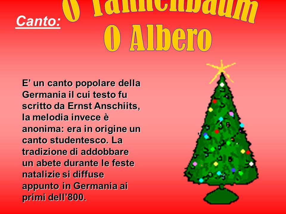 Canto: O Tannenbaum O Albero