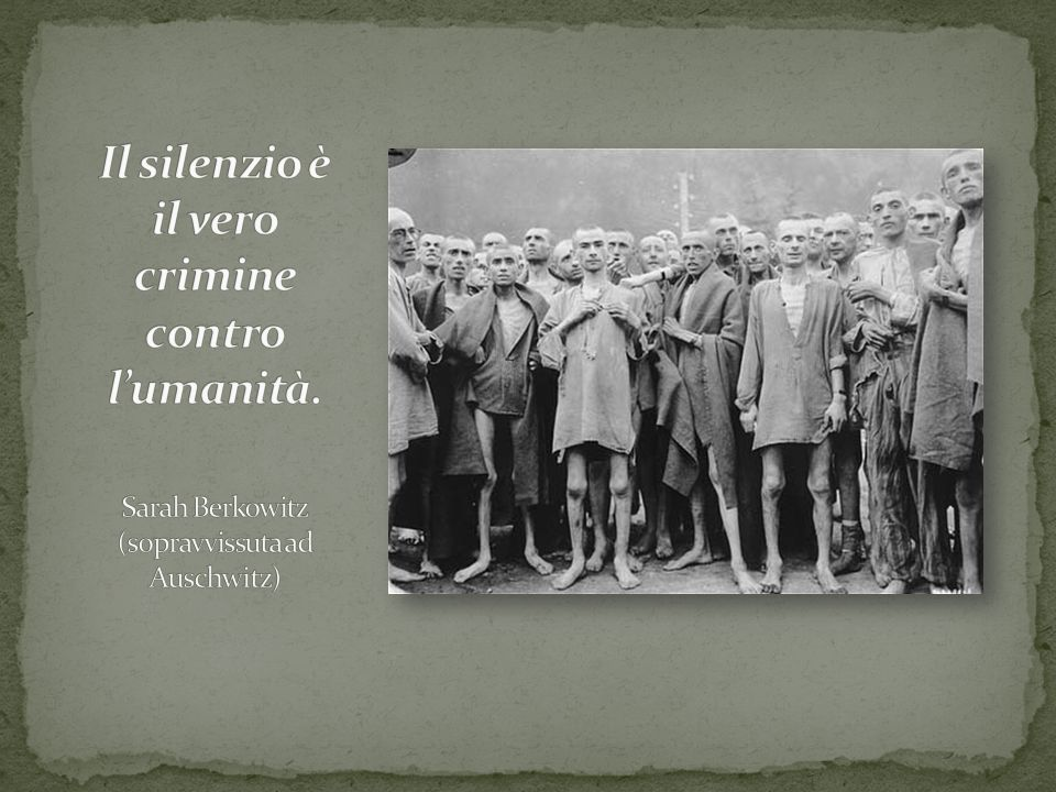 Il silenzio è il vero crimine contro l'umanità.
