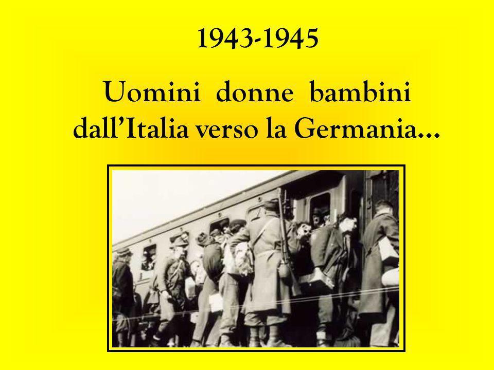 Uomini donne bambini dall'Italia verso la Germania…