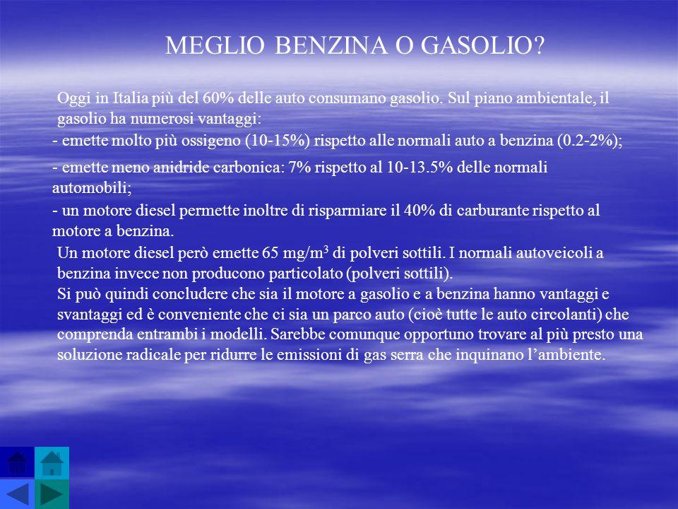 MEGLIO BENZINA O GASOLIO