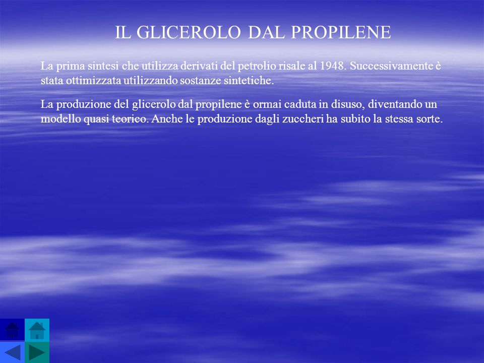 IL GLICEROLO DAL PROPILENE