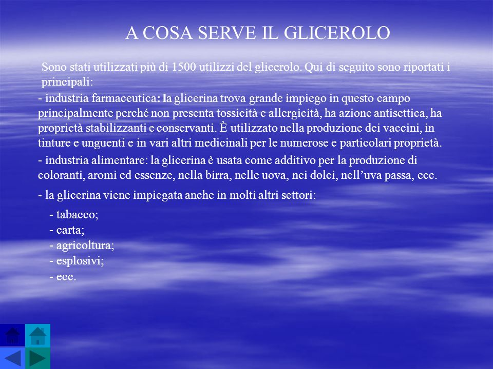 A COSA SERVE IL GLICEROLO