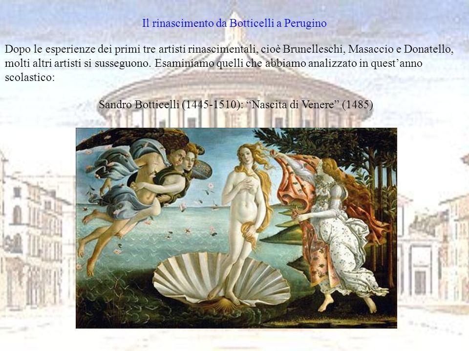 Il rinascimento da Botticelli a Perugino